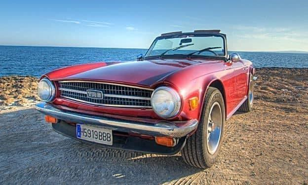 triumph tr6 cabrio auf mallorca mieten mallorca ausfluege. Black Bedroom Furniture Sets. Home Design Ideas